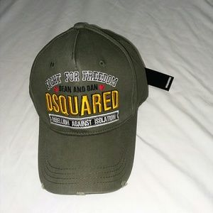 Dsquared olive green distressed hat